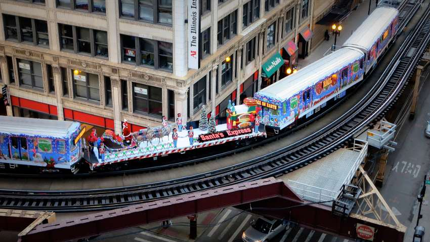 have you ever seen the chicago christmas train